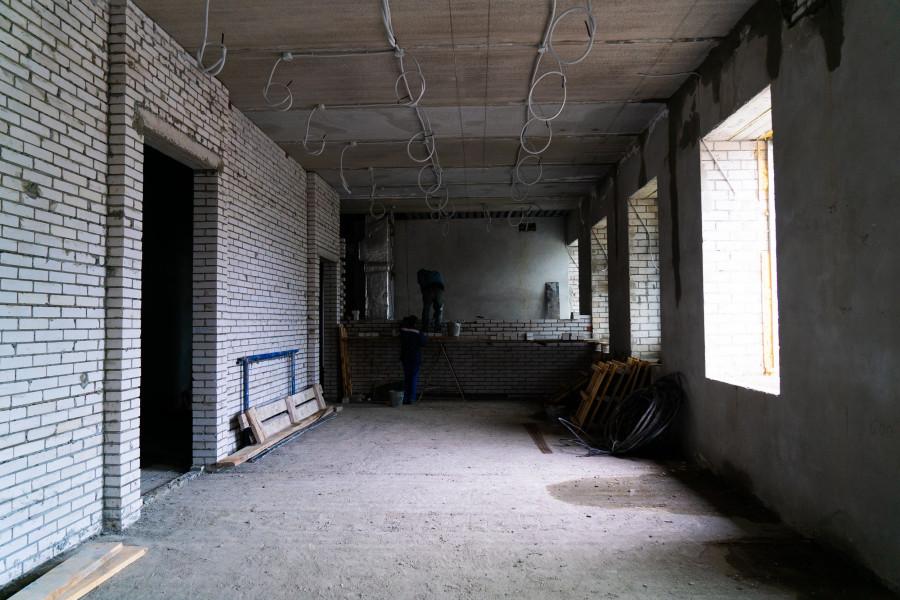 Строительство художественного музея в Барнауле.