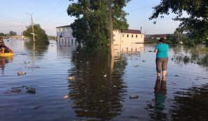 Эвакуация населения в Иркутской области.