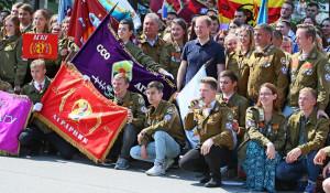 Памятный знак в честь 50-летия стройотрядовского движения на Алтае.