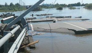 Зона подтопления в Иркутской области.