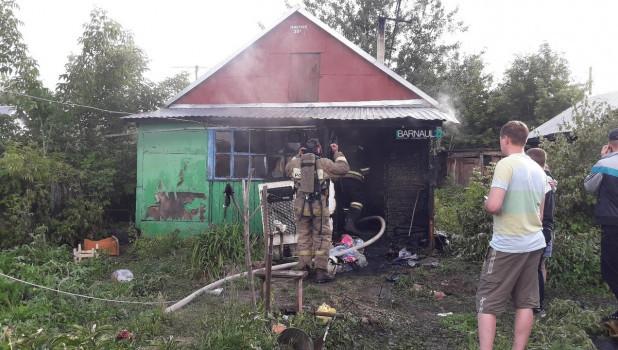 Пожар на улице Северная, 31а.