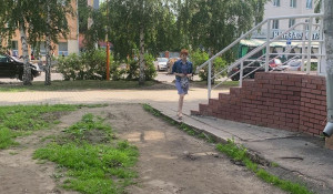 """""""Адовый"""" переход на Социалистическом."""