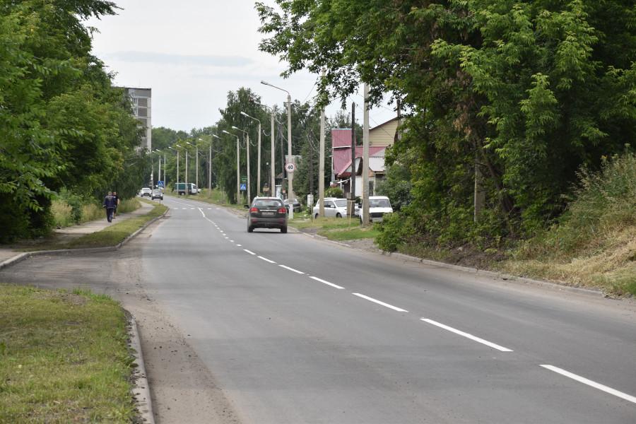 На отремонтированных дорогах в Бийске.