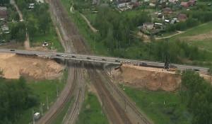 Строительство Центральной кольцевой автомобильной дороги Московской области.