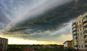 Тучи в Барнауле 5 июля 2019.