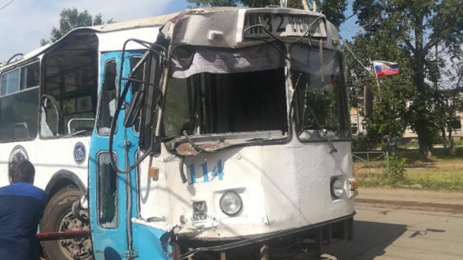ДТП с троллейбусом в Рубцовске.
