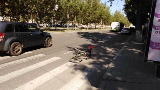 ДТП с велосипедистом.