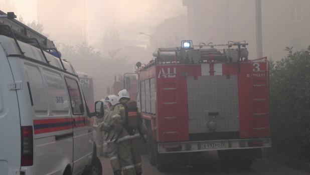 Пожар в Барнауле 10 июля 2019 года.