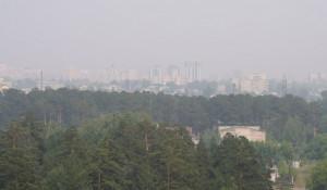 Смог в Барнауле 14 июля.