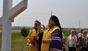 У Рубцовска поставили новый поклонный крест.