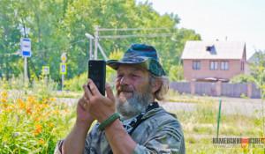 Путешественник Андрей Шарашкин в Камне-на-Оби.