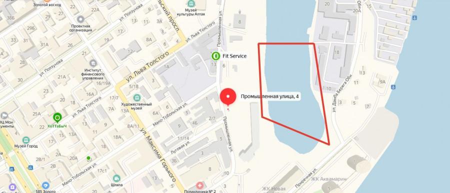 Искусственный участок в районе ул. Приречной.