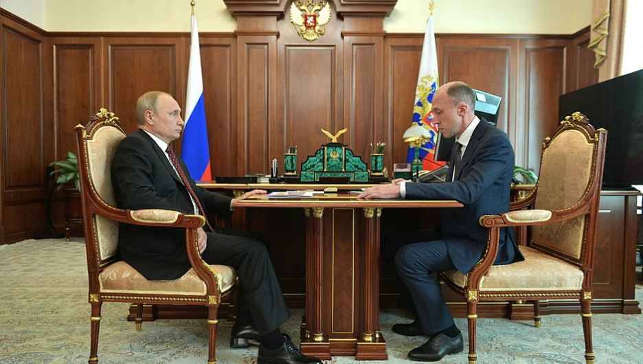 Олег Хорохордин и Владимир Путин.