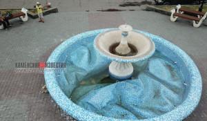 В Камне-на-Оби вспучило фонтан.