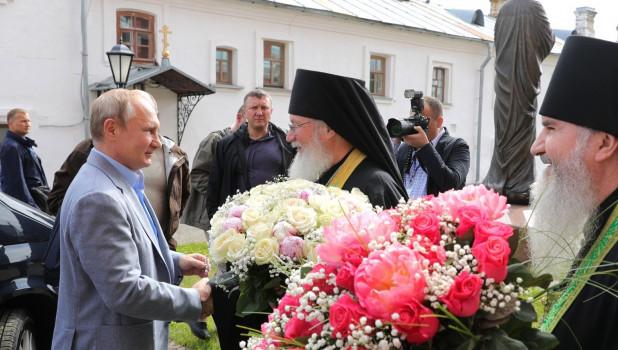 Владимир Путин и Александр Лукашенко на Валааме.