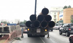 Перекладка сетей на ул. Калинина. 18 июля 2019 года.