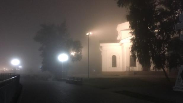 Туман в Барнауле 20 июля