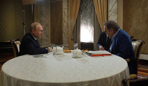 Владимир Путин и Оливер Стоун.