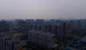 Дымка в Барнауле 21 июля.
