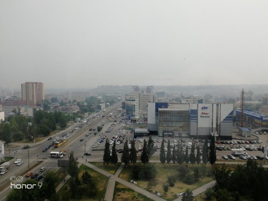 Дымка в Барнауле 23 июля 2019 года.