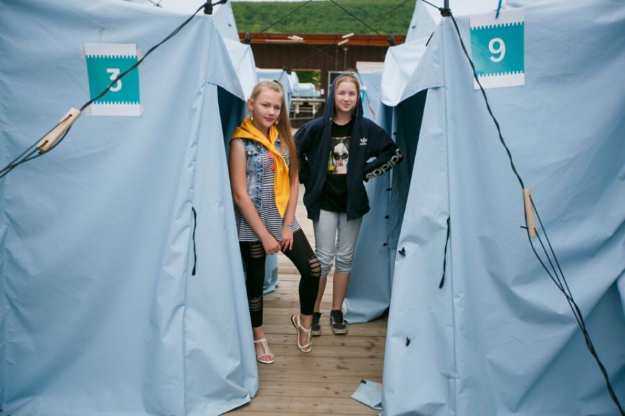 """Палатки в детском лагере """"Холдоми"""" в Хабаровском крае. Фото опубликовано в апреле 2019 года."""
