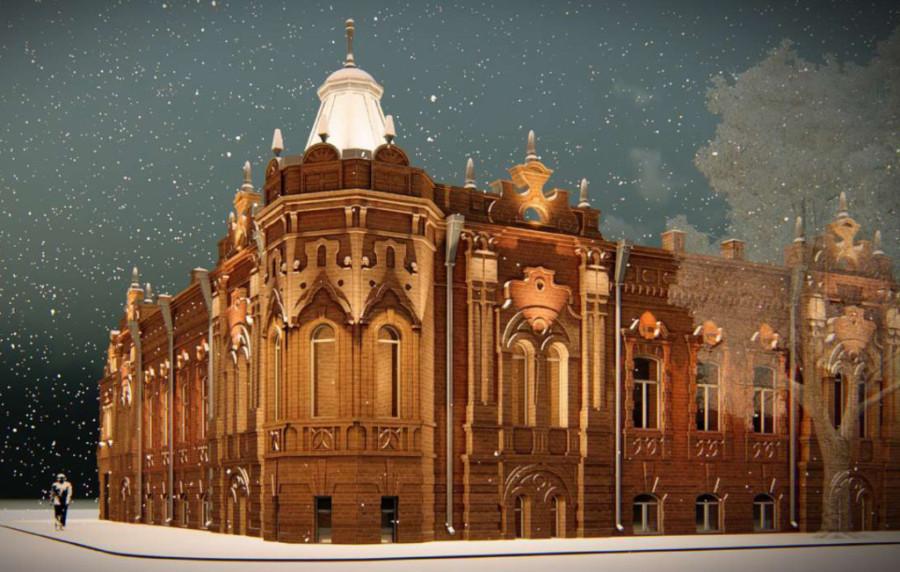 Проект архитектурной подсветки Дома Васеневых