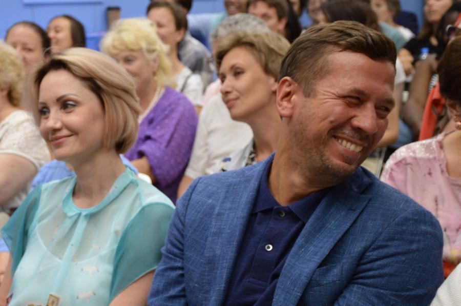 Актер Андрей Мерзликин на творческой встрече с писателем Павлом Басинским