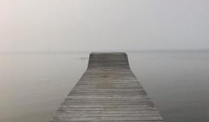 Обское море в тумане.