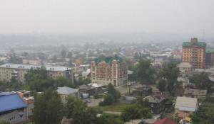 Смог в Барнауле. Июль 2019.