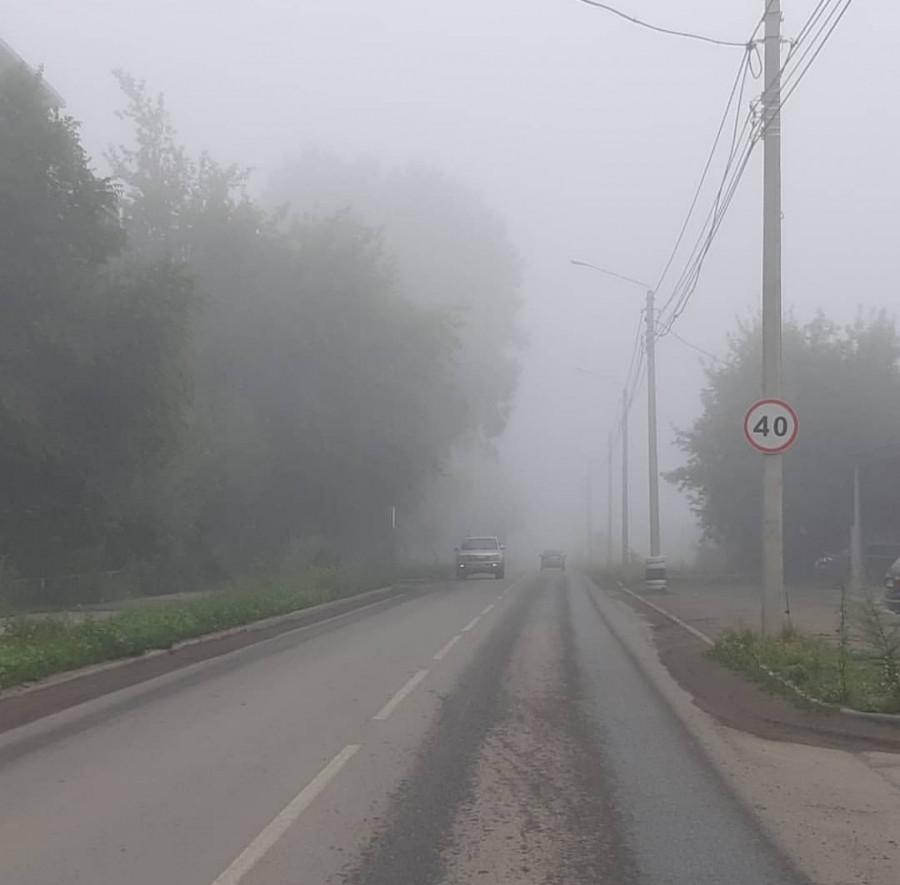 Бийск в дымке, июль 2019.