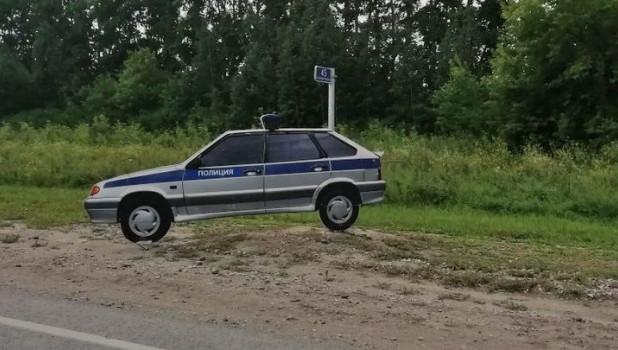 Макет автомобиля ДПС на Чуйском тракте.