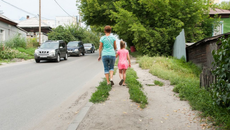 Тротуары в Барнауле. Ядринцева.