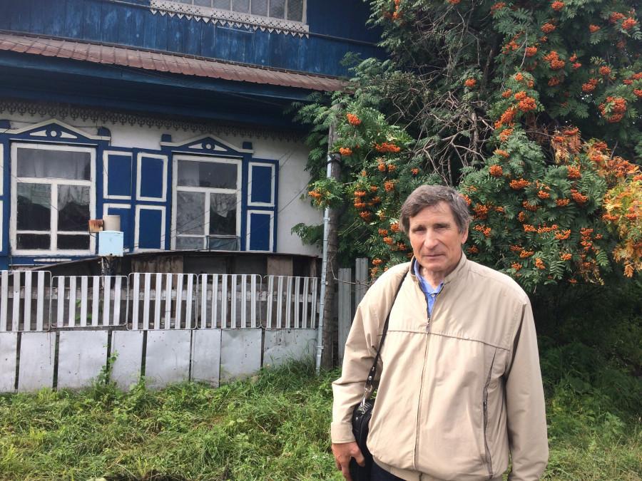 Николай Фаддеенков в Сростках, 2019 год