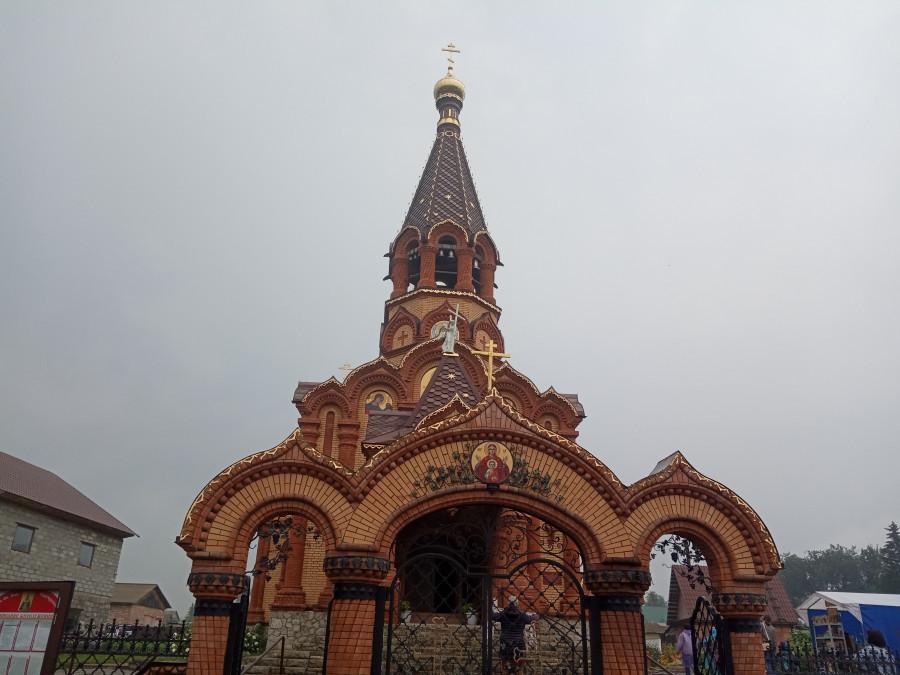 Храм великомученицы Екатерины, Сростки, 2019 год