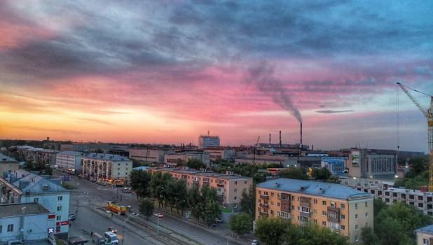 Закат в Барнауле.
