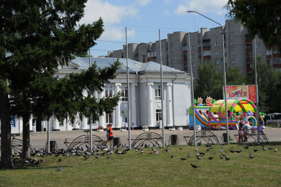 Вид города Новоалтайска.