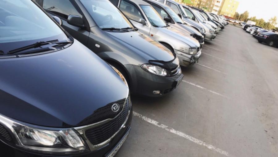 Автомобили, парковка.