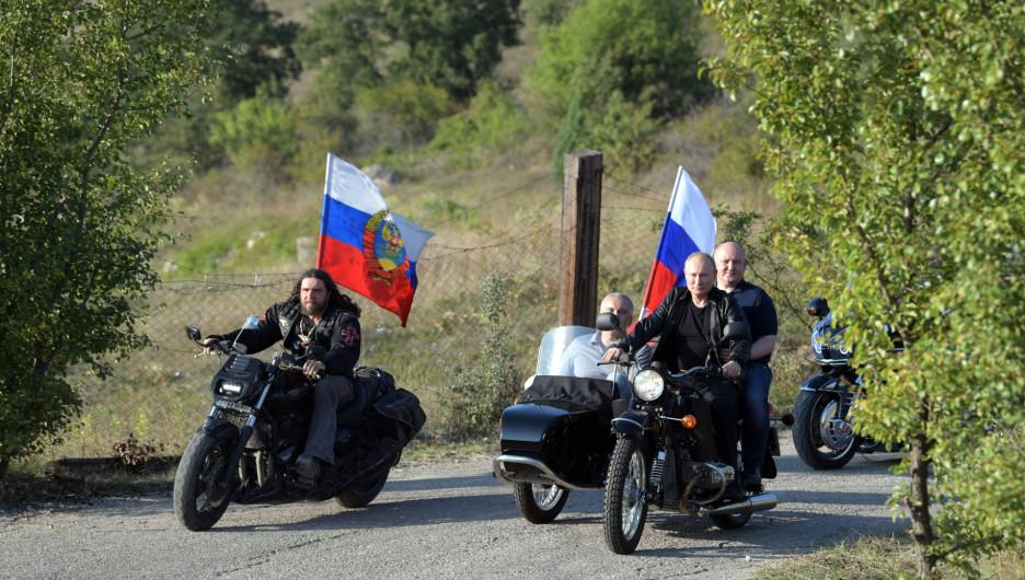 Владимир Путин посетил мотоклуб «Ночные волки».