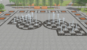 Проект первого пешеходного фонтана в Барнауле.