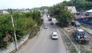 В Барнауле ремонтируют улицу Мамонтова