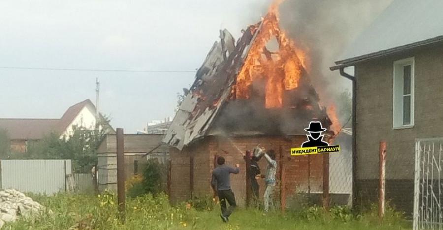 Пожар в бане в поселке Лесной.