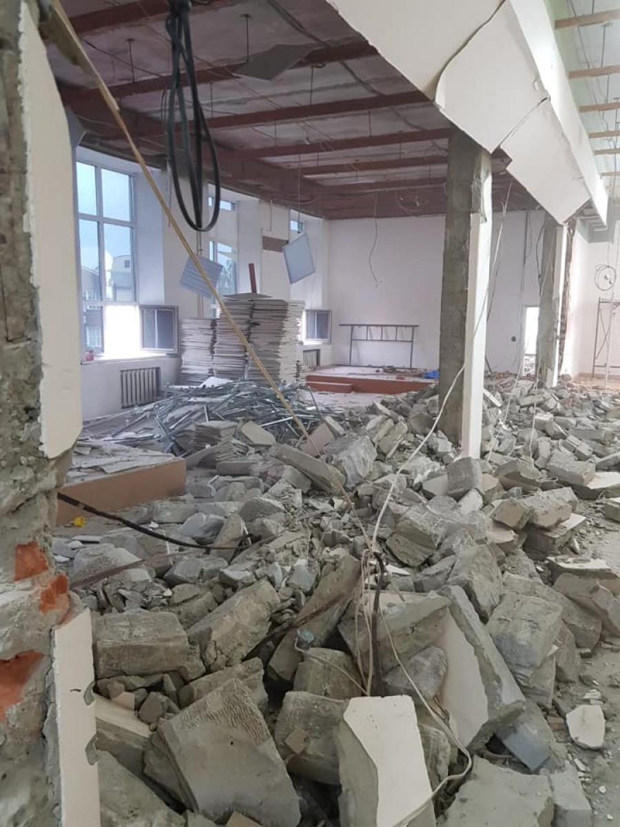 Ремонт на третьем этаже библиотеки им. Шишкова