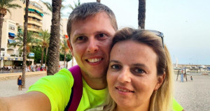 Ольга Козодой с мужем
