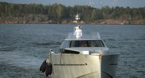 Владимир Путин и Саули Ниинистё на катере отправились к причалу крепости Свеаборг.