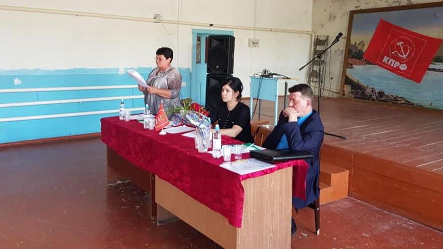 Встреча Марии Прусаковой с жителями.