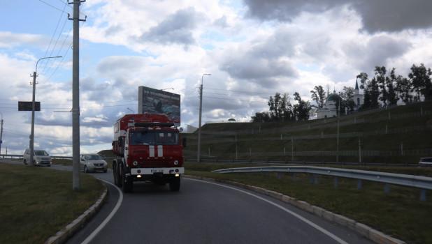 Пожарные из Эстонии побывали в Барнауле.