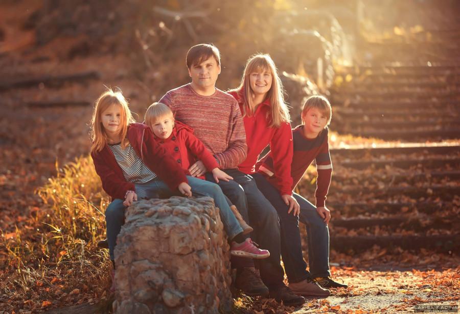 Елена Степанова и ее семья.