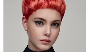 Волосы кораллового оттенка