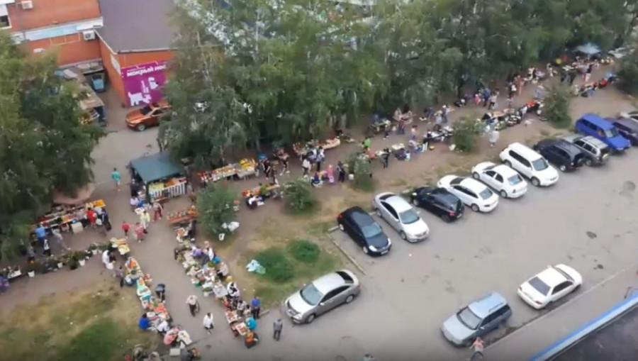 Уличная торговля в Барнауле