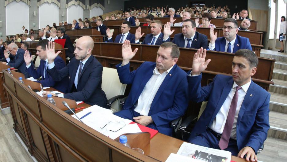 Заседание Барнаульской городской думы 30 августа 2019 года.